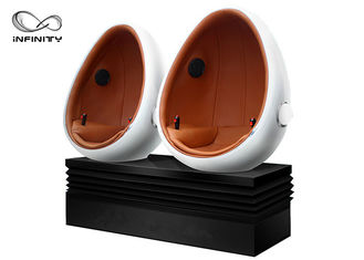 12D Movie Virtual Reality Station 9D Egg VR Cinema With Smoke / Fog / Leg Sweep