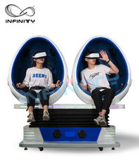 Double Seater Virtual Reality Capsule, Free Vision 9D Egg Cinema dla dorosłych dostawca