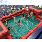 Interactive Wholesale Inflatable Soccer Soap Field / Inflatable Pvc Football Pitch Arena Playground For Water