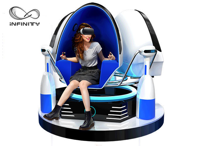 Chiny Kolorowa kabina 9D VR Game Machine / Virtual Reality Egg Chair fabryka