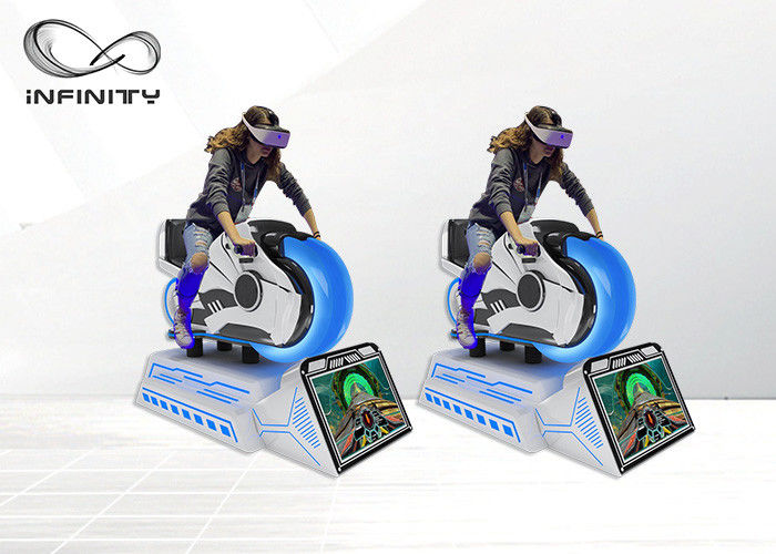 Chiny Motorbike 9D VR Car Racing Game Machine / Virtual Reality Driving Simulator fabryka