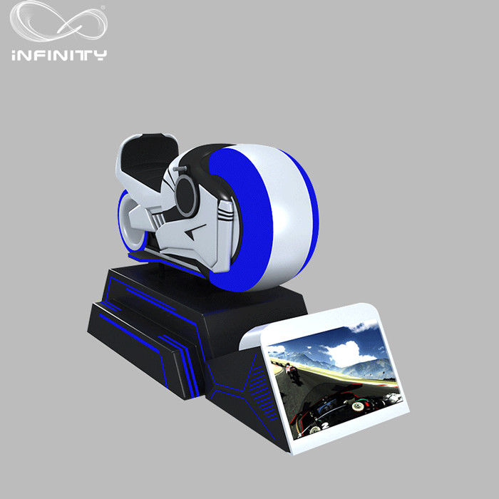 1 Person Online Race 9D VR Motorcycle Car Driving Simulator Black Or White Color
